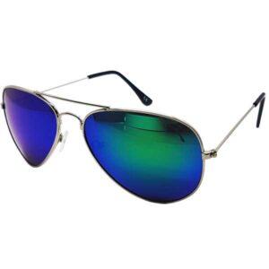 afd08df14c0e Aviator solbriller med blågrønt spejlglas