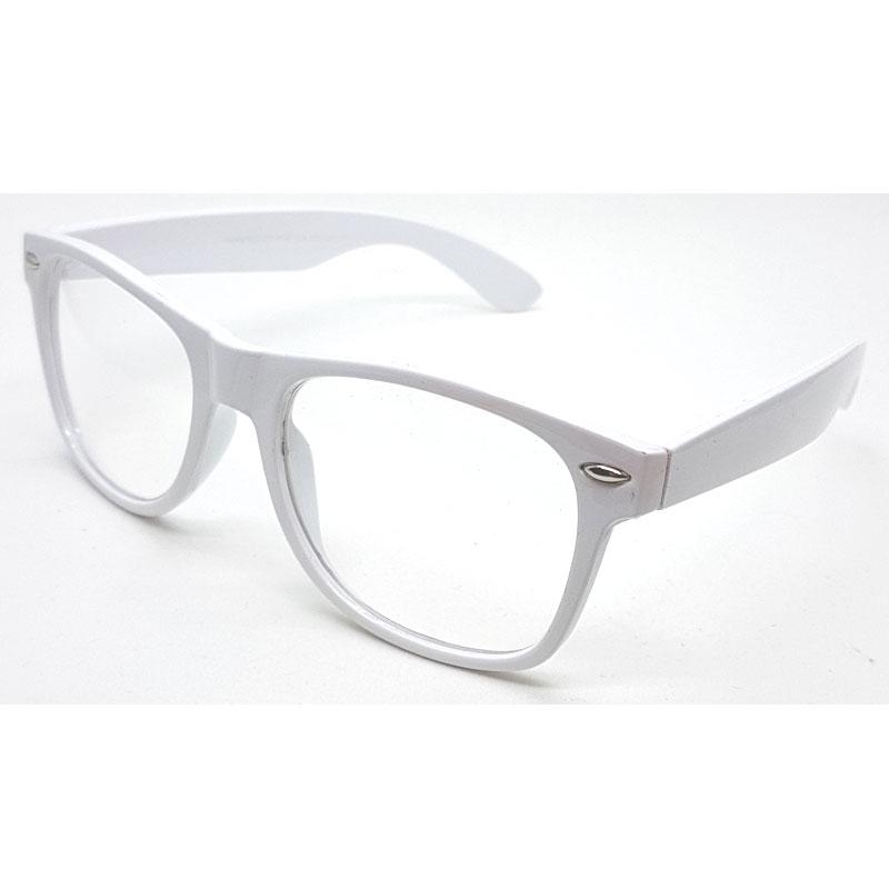 74d9354a893c Wayfarer briller med klare glas uden styrke. Hvidt stel. MEGA lav pris!